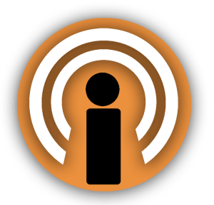Graphic icon/link to Podcast page